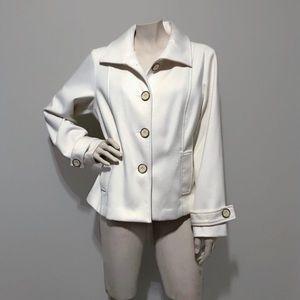 Chico's Winter White Pea Coat Chico's Size 1